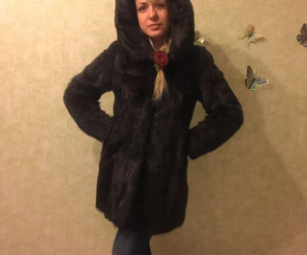 Шуба норковая  44 размер. Фото 3. Москва.