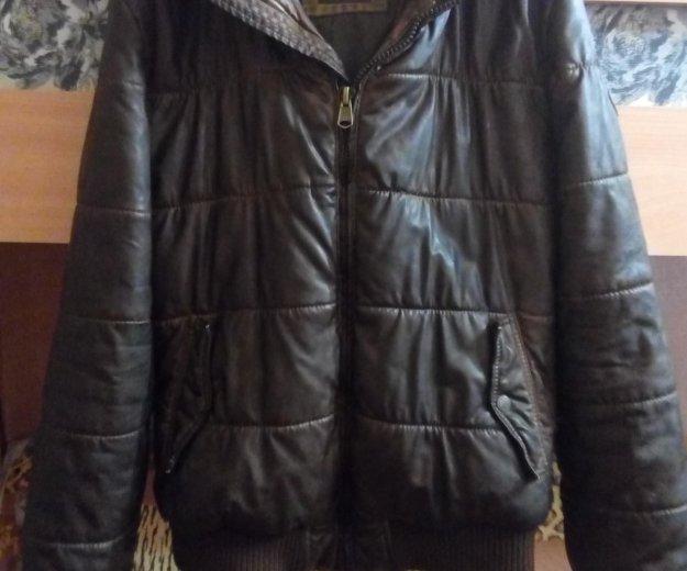 Кожаная куртка bershka. Фото 1. Москва.