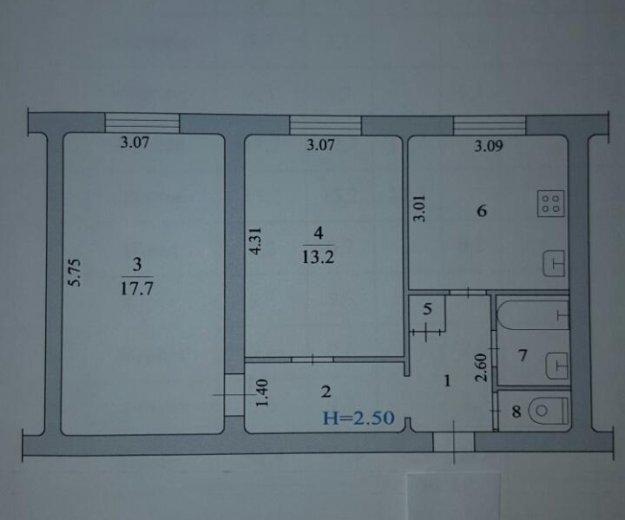 Продается 2-к квартира. Фото 3. Волжский.