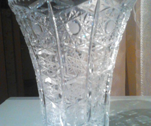 Хрустальные вазы большие. Фото 2. Москва.