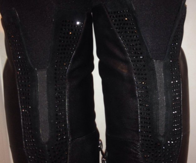 Кожаные брендовые ботфорты и туфли в подарок. Фото 3. Химки.