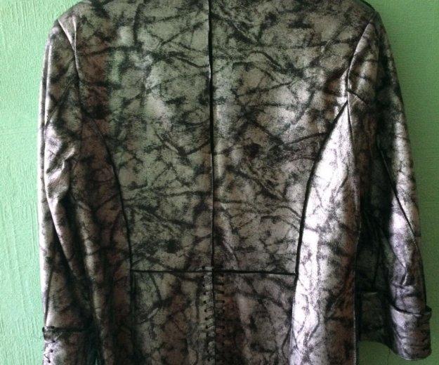 Кожаный пиджак (куртка). размер 46-48. Фото 2. Санкт-Петербург.
