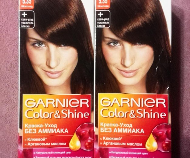 Краска для волос garnier color&shine 5.35 (2 шт.). Фото 2. Воткинск.
