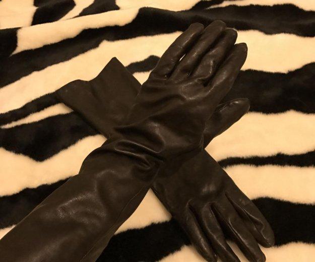 Перчатки удлинённые натуральная кожа. Фото 1. Санкт-Петербург.