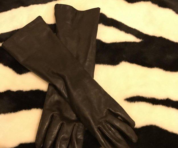 Перчатки удлинённые натуральная кожа. Фото 2. Санкт-Петербург.