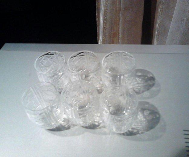 Хрустальные стаканы 6шт. Фото 1. Москва.