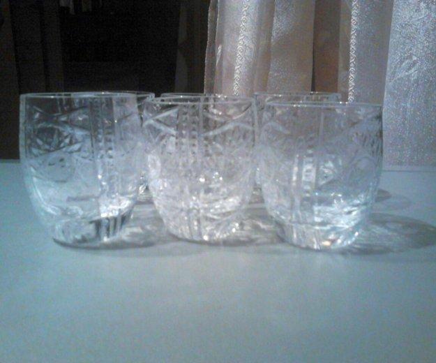 Хрустальные стаканы 6шт. Фото 2. Москва.