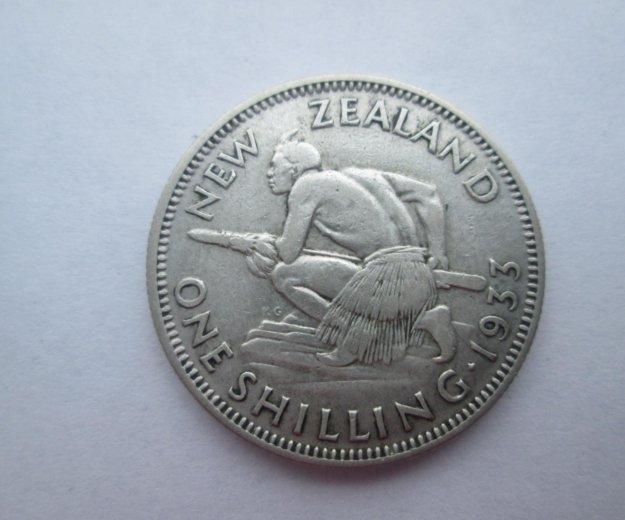 1 шиллинг 1933 г серебро. Фото 1.