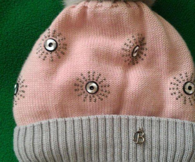 Новая польская зимняя шапочка с помпоном из меха. Фото 3. Москва.