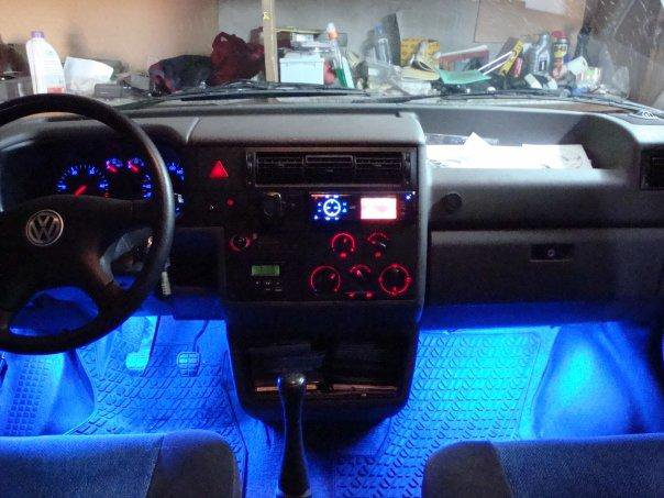 Синяя подсветка в салон автомобиля. Фото 3. Йошкар-Ола.