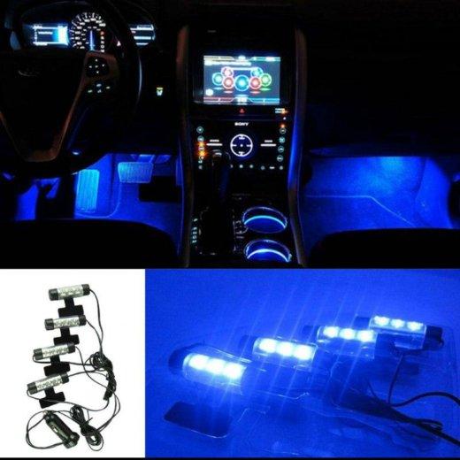 Синяя подсветка в салон автомобиля. Фото 4. Йошкар-Ола.