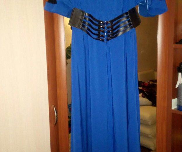 Платье в пол 50-52 размер. Фото 1. Тельмана.
