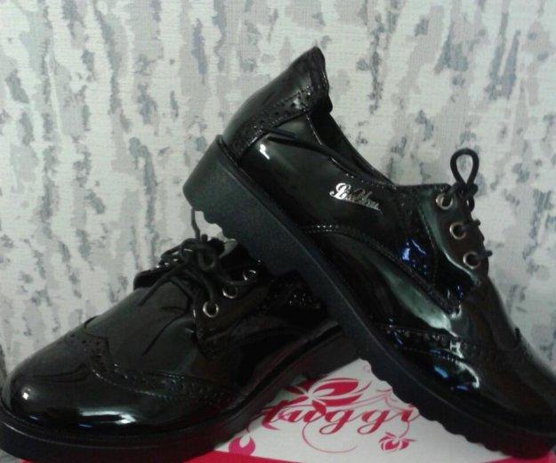 Ботинки лаковые черные 37. Фото 1. Ярославль.