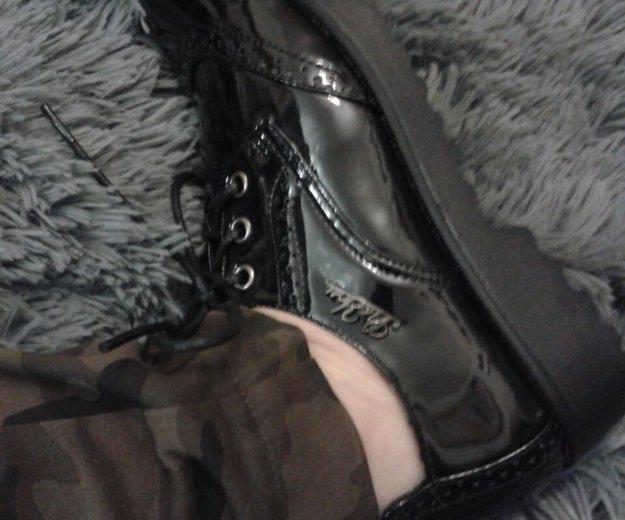 Ботинки лаковые черные 37. Фото 2. Ярославль.