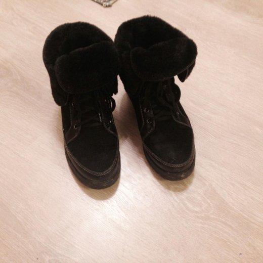 Зимние ботинки черный р38. Фото 1. Москва.