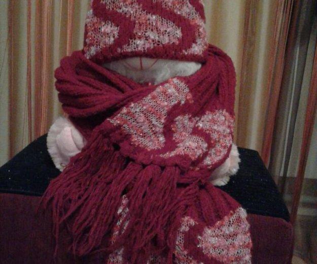 Комплект: шапка и шарф. Фото 1. Курск.
