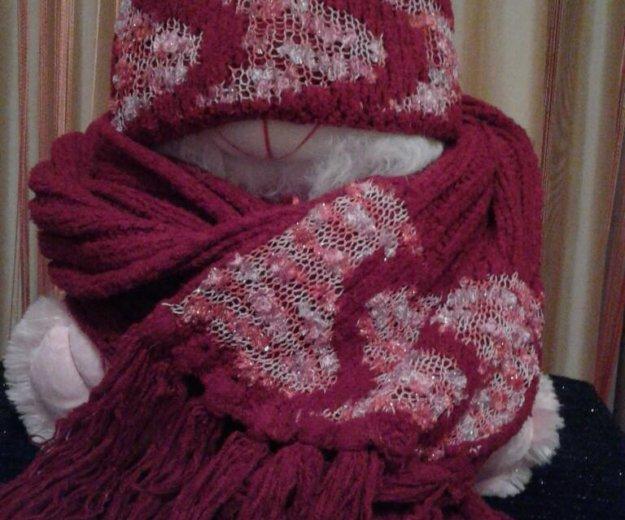 Комплект: шапка и шарф. Фото 2. Курск.
