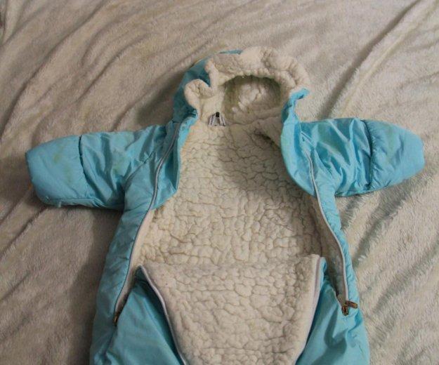 Конверт на овчине новорожденному и до 4мес.. Фото 1. Санкт-Петербург.