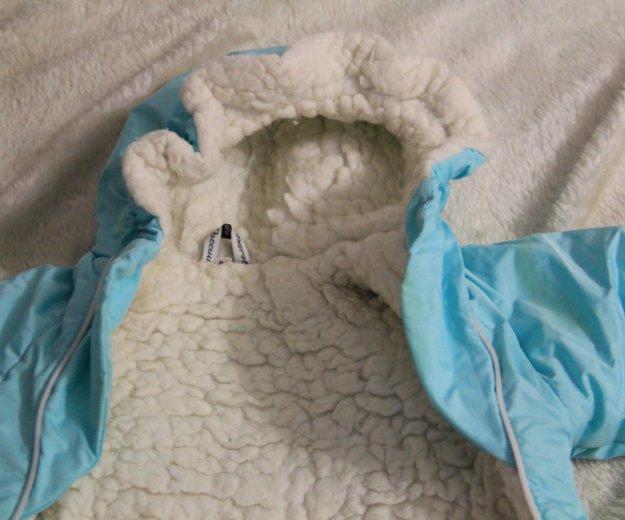 Конверт на овчине новорожденному и до 4мес.. Фото 4. Санкт-Петербург.
