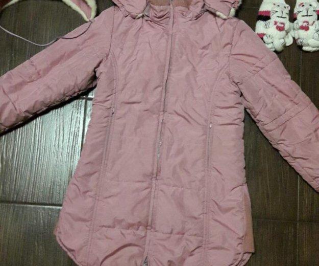 Пальто зима  для девочки. Фото 1.