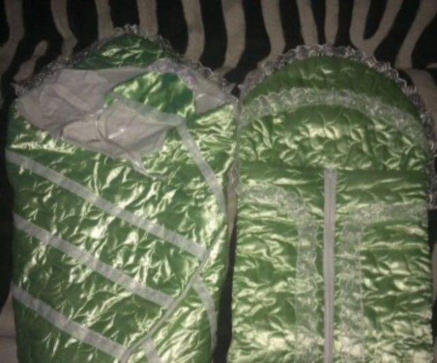 Конверт и одеяло на выписку зима. Фото 1. Шахты.