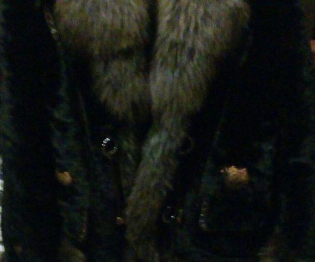 Шуба мутон, воротник и рукава песец. Фото 2. Москва.