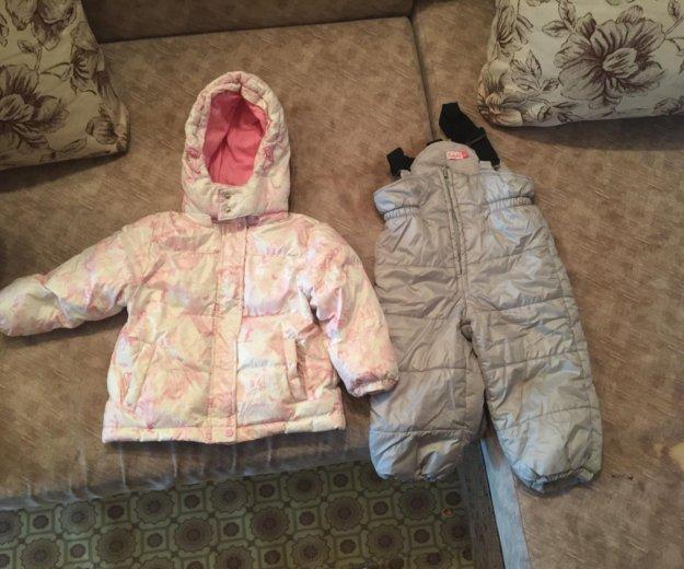 Пуховик детский (комплект куртка + комбинезон). Фото 1. Челябинск.