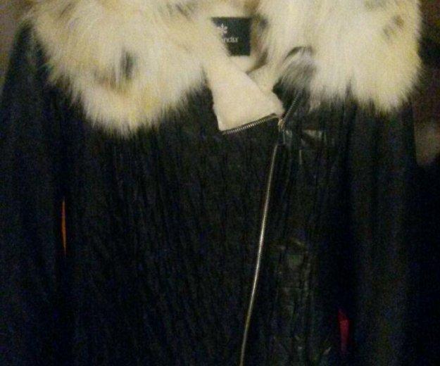 Куртка кожанная на мутоне. Фото 1.