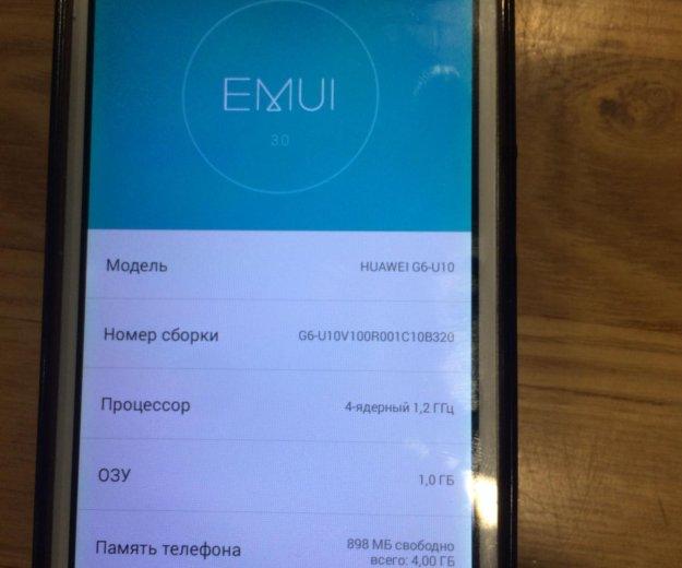 Телефон huawei g6-u10. Фото 1. Владивосток.