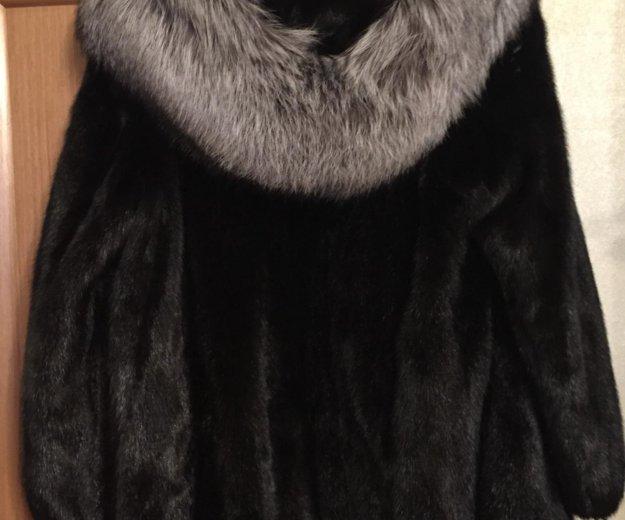 Продаю норковую шубу с капюшоном из чернобурки. Фото 1. Котельники.