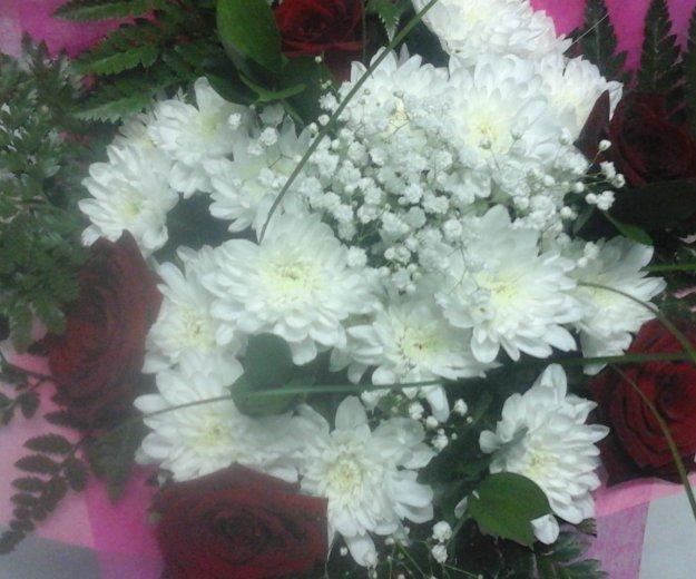 Букет хризантем с розами. Фото 1. Екатеринбург.