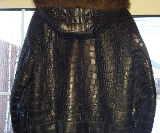 Мужская куртка из крокодила с соболем. Фото 1. Москва.