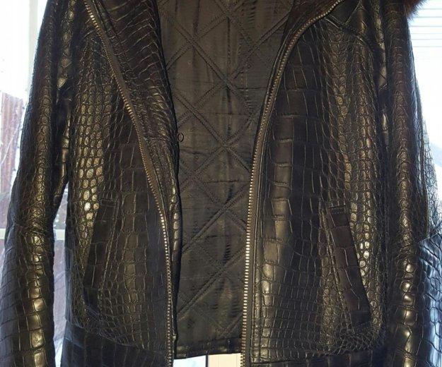 Мужская куртка из крокодила с соболем. Фото 2. Москва.