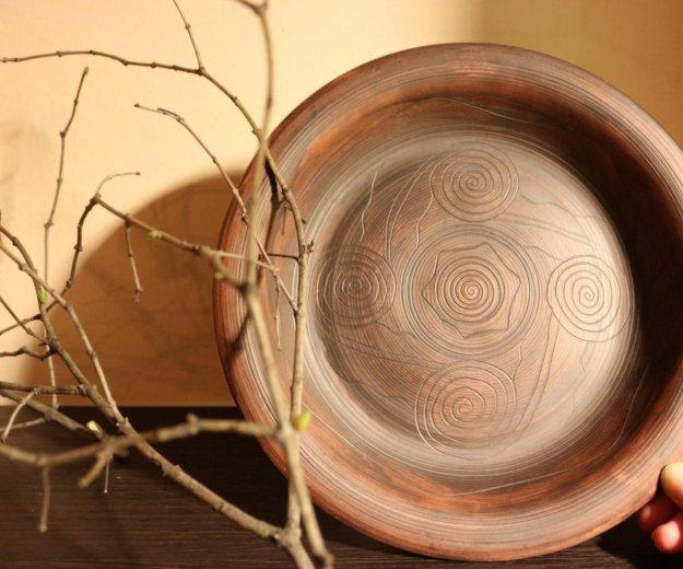 Тарелка глиняная. Фото 1. Москва.