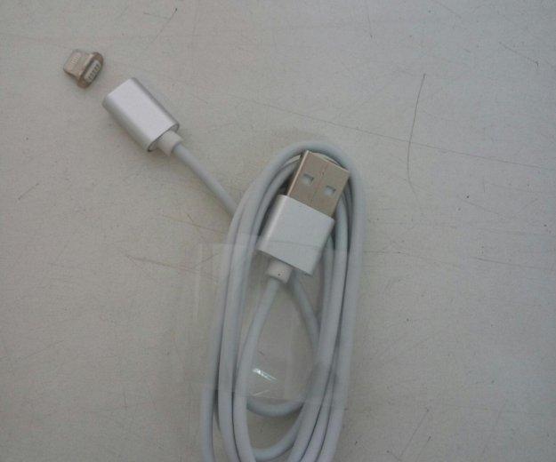 Зарядка-магнит для iphone 5/6/7, ipad 4, air, mini. Фото 1. Красноярск.