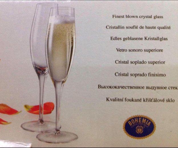 Новые фужеры для шампанского bohemia. Фото 2. Железнодорожный.