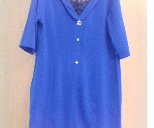 Платье синее 54-56р. Фото 1. Красноярск.