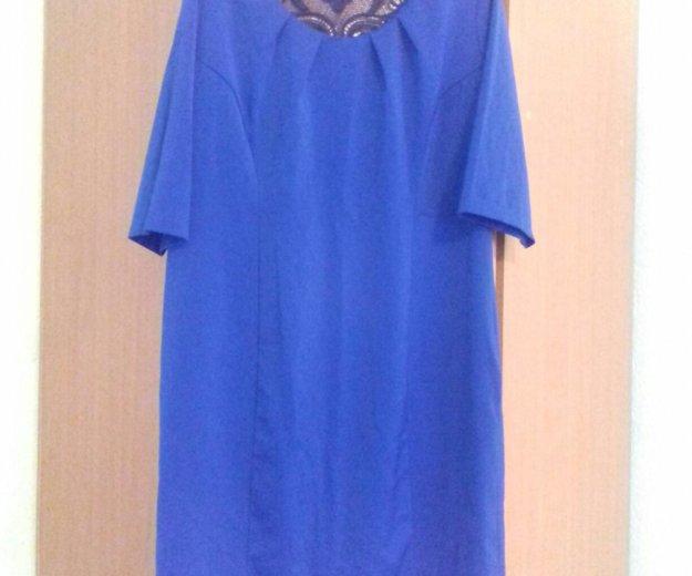 Платье синее 54-56р. Фото 2. Красноярск.