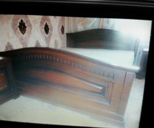Кровать 2-спальная с инкрустацией.матрас ортопед н. Фото 1. Ессентукская.