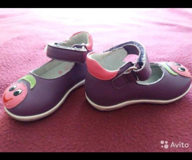 Кожаные туфельки или сандалии 19 размер. Фото 2. Челябинск.