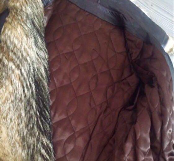 Кожаная куртка с вставками из волка. Фото 2. Иркутск.