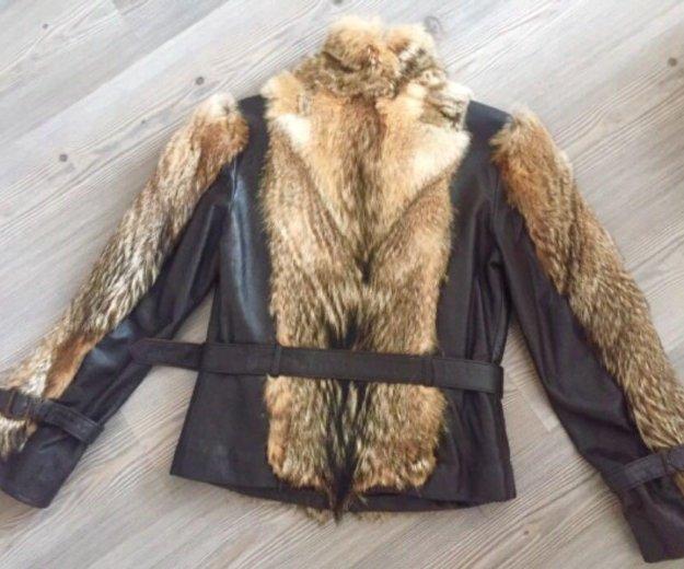 Кожаная куртка с вставками из волка. Фото 3. Иркутск.