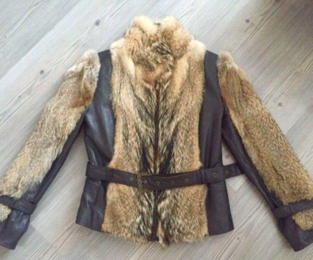 Кожаная куртка с вставками из волка. Фото 1. Иркутск.