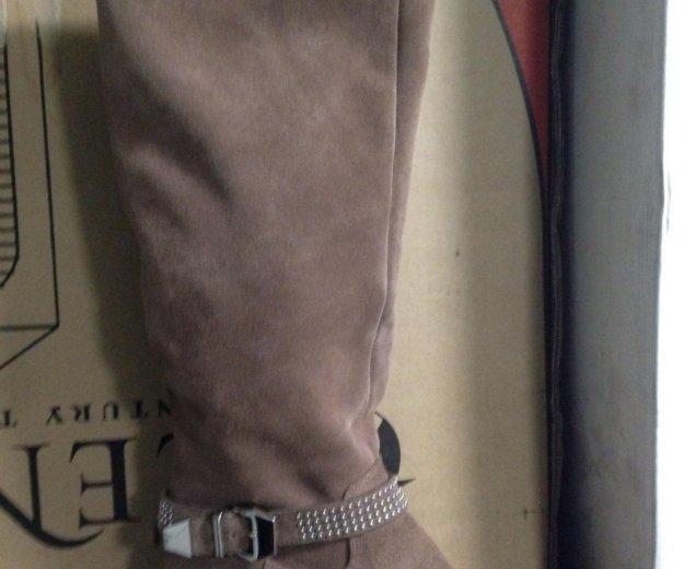 Сапоги женские зимние замшевые. Фото 1. Похвистнево.
