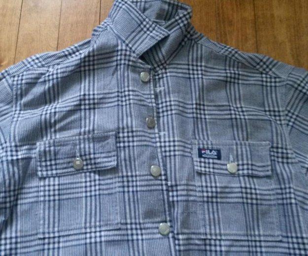 Плотная фирменная рубашка fila. Фото 1. Киров.