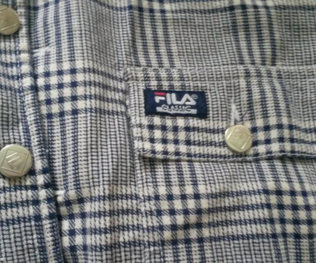 Плотная фирменная рубашка fila. Фото 3. Киров.