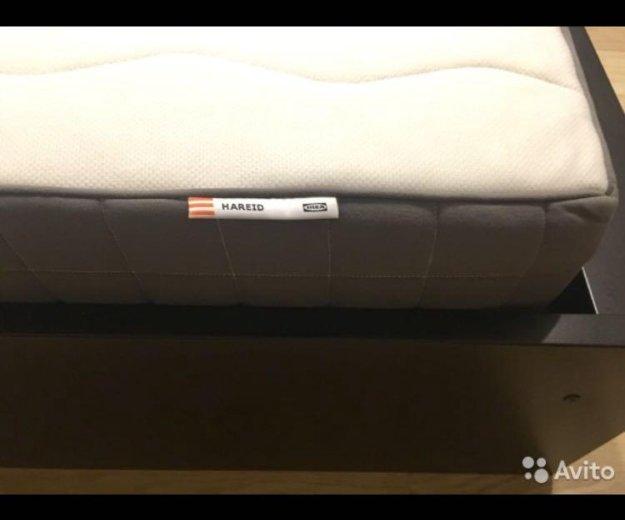Кровать и жёсткий матрас икеа. Фото 2. Москва.