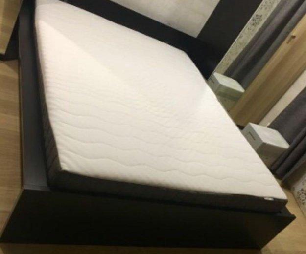 Кровать и жёсткий матрас икеа. Фото 3. Москва.