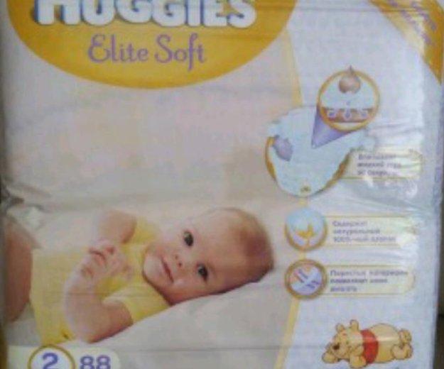 Подгузники детские huggies elite soft 2. Фото 1. Москва.