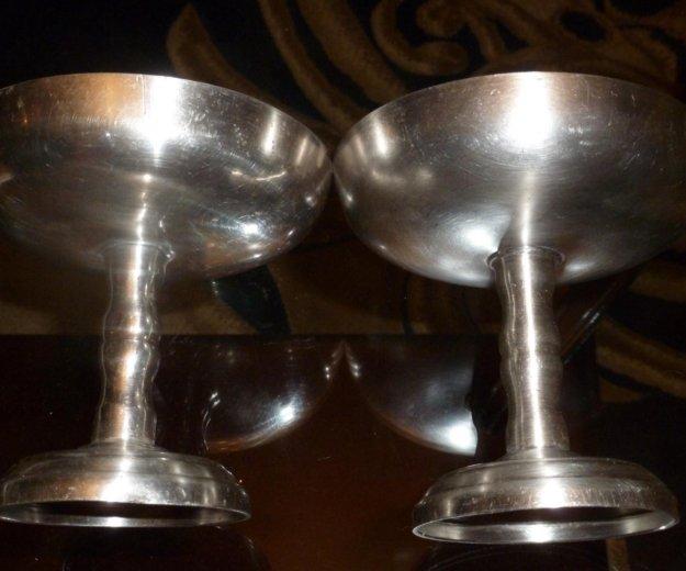 Креманки мельхиоровые советские кольчугино. Фото 4. Юбилейный.